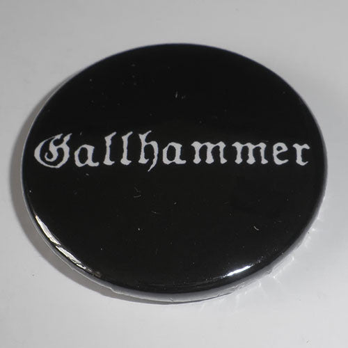 Gallhammer - White Logo (Badge)