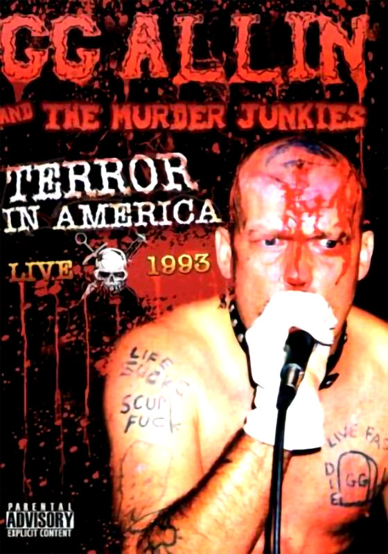 GG Allin & The Murder Junkies - Terror in America (Live 1993) (DVD)
