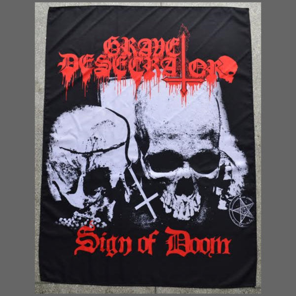 Grave Desecrator - Sign of Doom (Textile Poster)