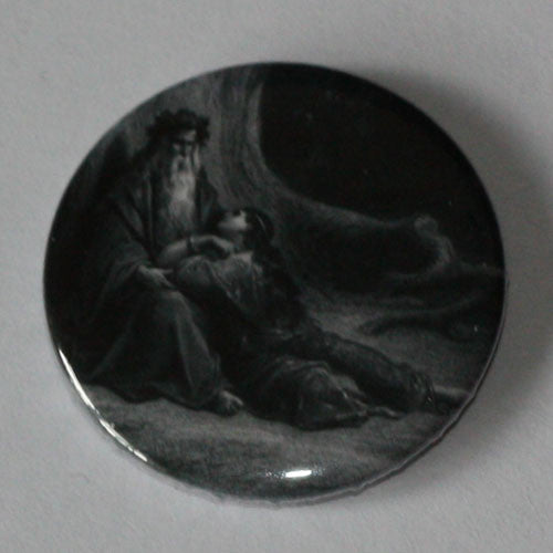 Gustave Dore - Idylls of the King (Plate 10) (Badge)