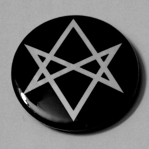 Hexagram Symbol (White) (Badge)