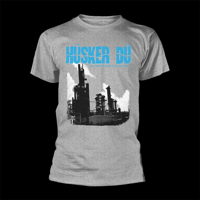 Husker Du - Don't Want to Know If You Are Lonely (Grey) (T-Shirt)