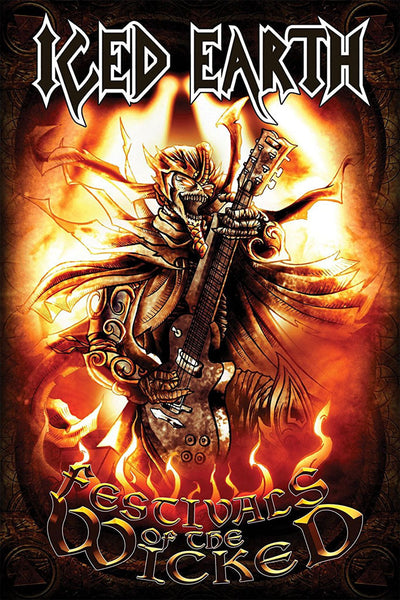 Iced Earth - Festivals of the Wicked (Textile Flag)