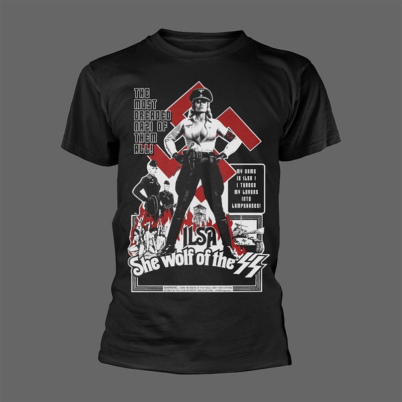Ilsa, She Wolf of the SS (1975) Poster (Black) (T-Shirt)