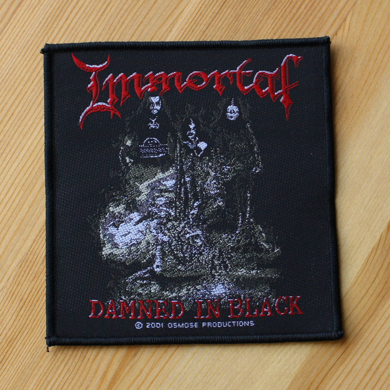 Immortal - Damned in Black (Woven Patch)