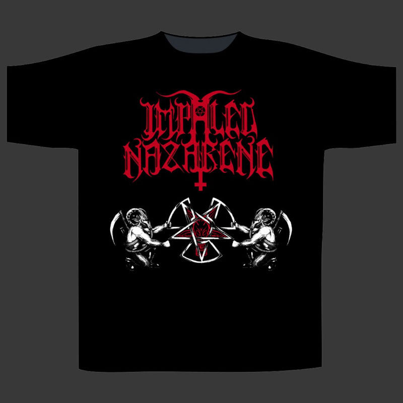 Impaled Nazarene - Red Logo / Nuclear Pentagram (T-Shirt)