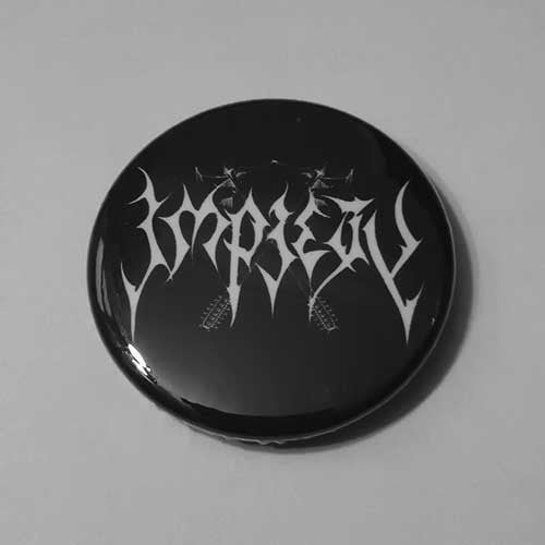Impiety - White Logo (Badge)