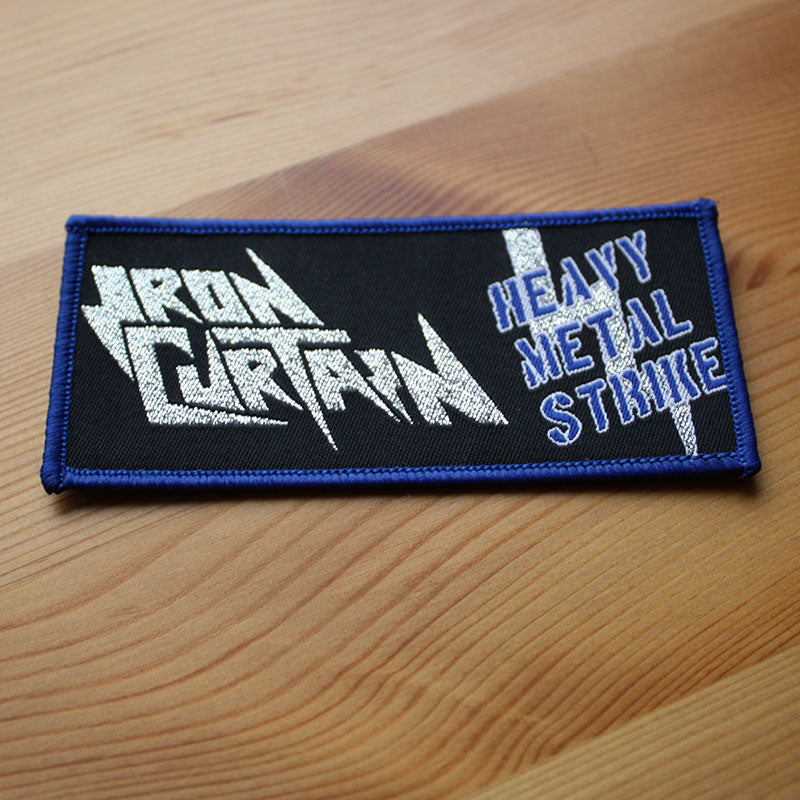 Iron Curtain - Heavy Metal Strike (Silver) (Woven Patch)