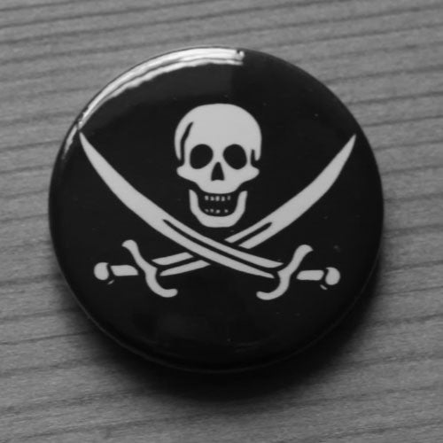 Jolly Roger Skull and Crossbones - Calico Jack (Badge)