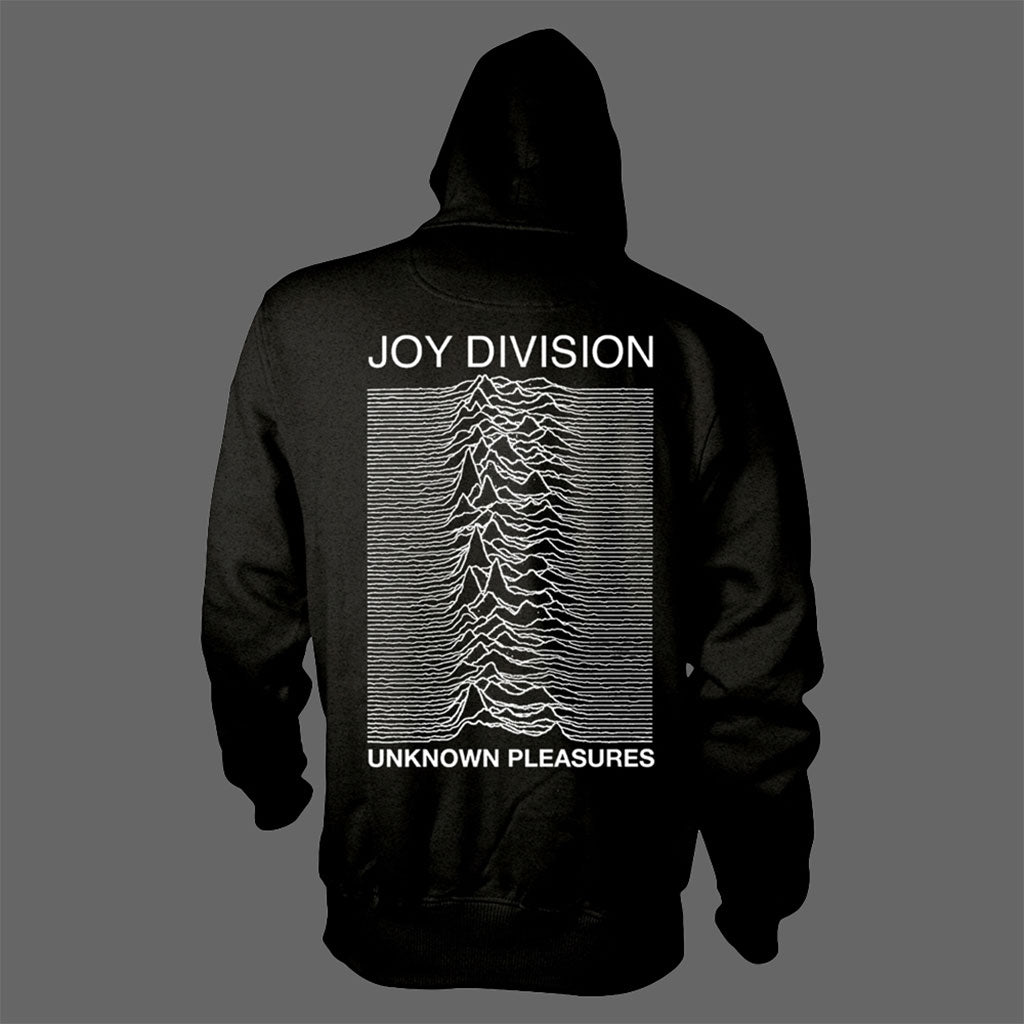 Joy Division - Logo / Unknown Pleasures (Full Zip Hoodie)