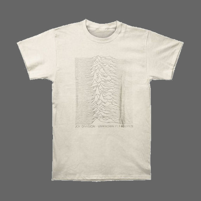 Joy Division - Unknown Pleasures (Grey on Natural) (T-Shirt)