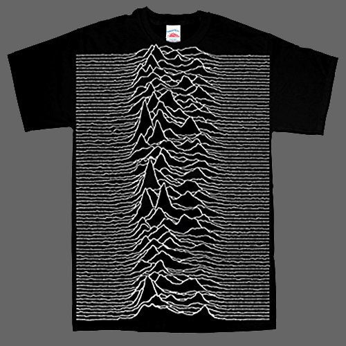 Joy Division - Unknown Pleasures (Large Print) (T-Shirt)