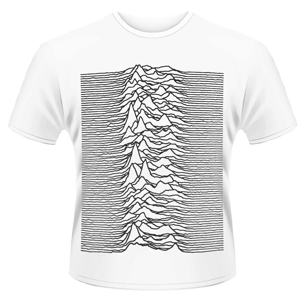 Joy Division - Unknown Pleasures Waves (Black on White) (T-Shirt)