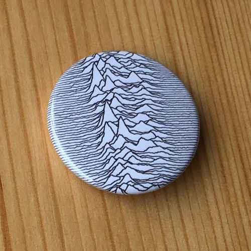 Joy Division - Unknown Pleasures (Waves) (White) (Badge)