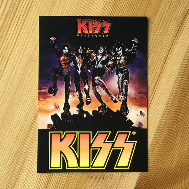 Kiss - Destroyer (Postcard)