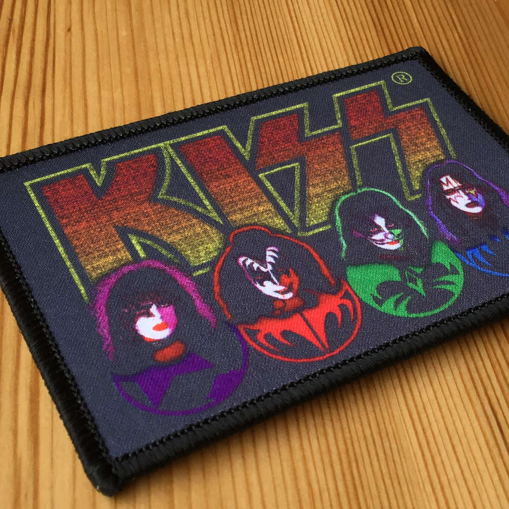 Kiss - Faces & Icons (Woven Patch)