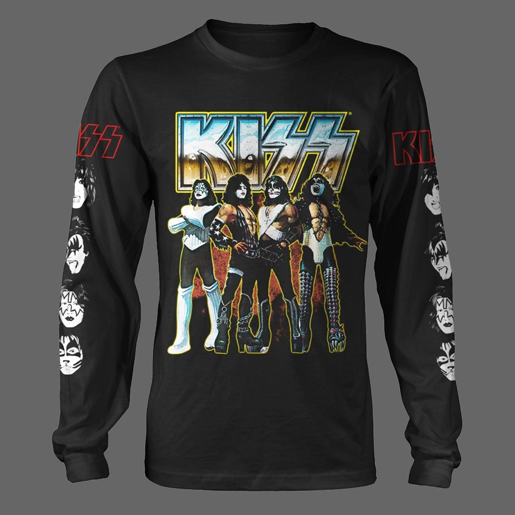 Kiss - Love Gun (Chrome) (Long Sleeve T-Shirt)