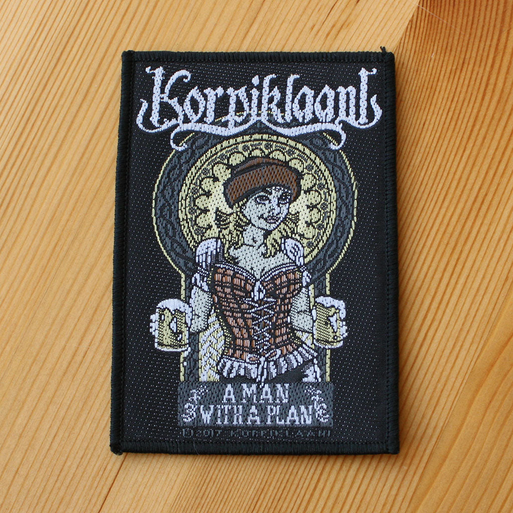 Korpiklaani - A Man with a Plan (Woven Patch)