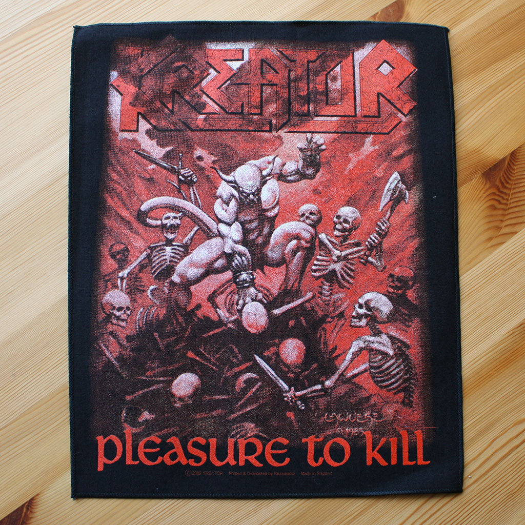 Kreator - Pleasure to Kill (Backpatch)