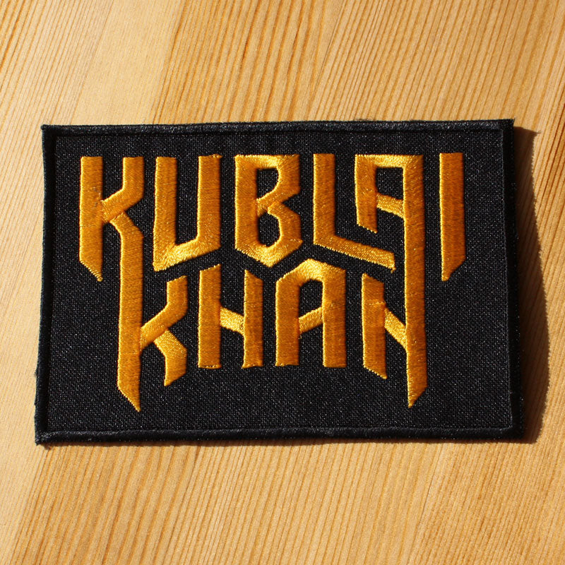 Kublai Khan - Gold Logo (Embroidered Patch)