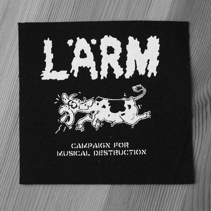 Larm - Campaign for Musical Destruction (Printed Patch)
