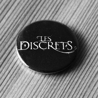Les Discrets - White Logo (Badge)