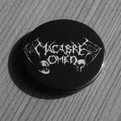 Macabre Omen - White Logo (Badge)