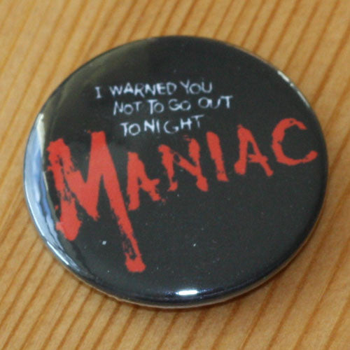 Maniac 1980 Red Title (Badge)
