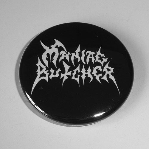 Maniac Butcher - White Logo (Badge)