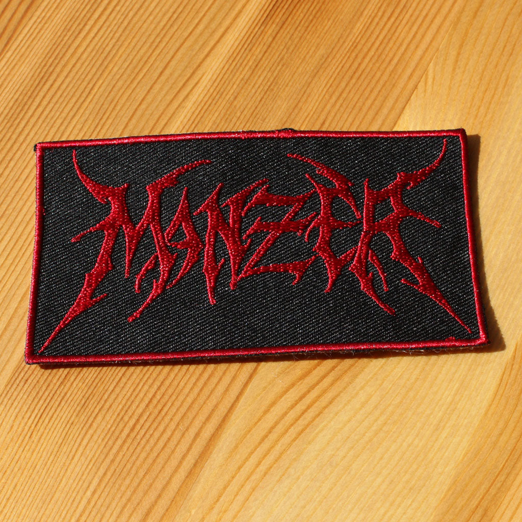 Manzer - Red Logo (Woven Patch)