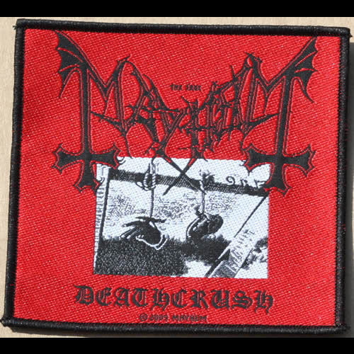 Mayhem - Deathcrush (Woven Patch)