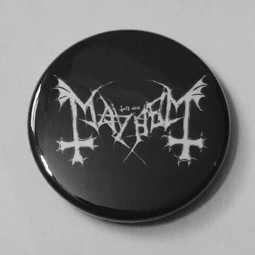 Mayhem - White Logo (Badge)