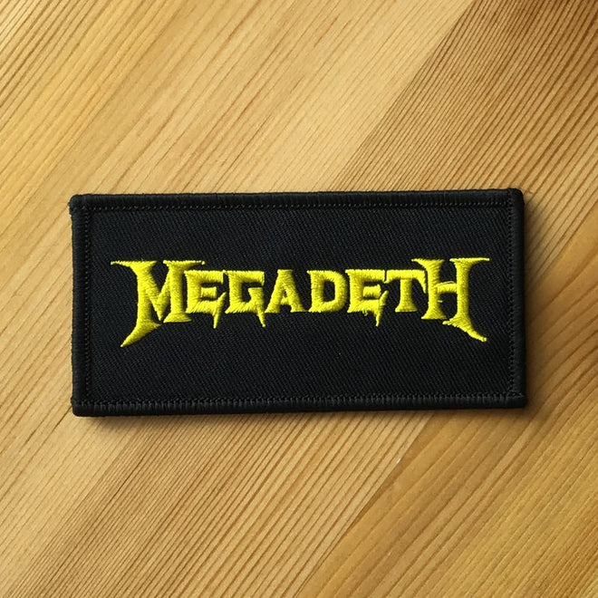 Megadeth - Yellow Logo (Embroidered Patch)