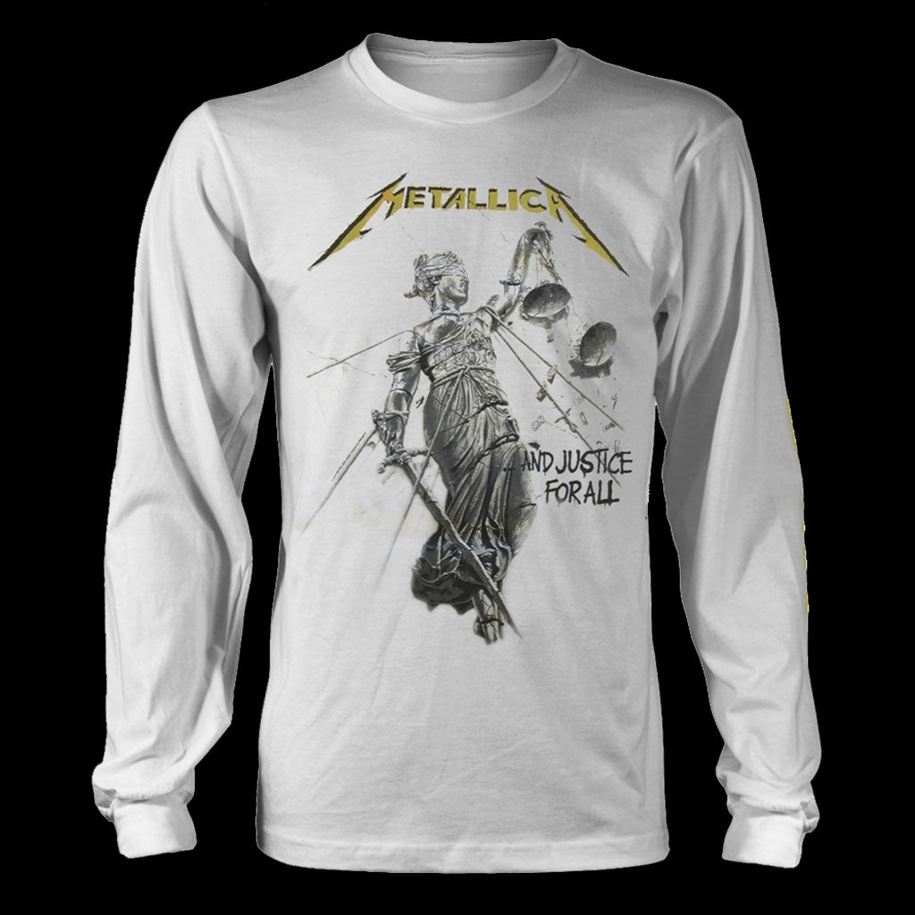 Metallica - ...And Justice for All (White) (Long Sleeve T-Shirt)