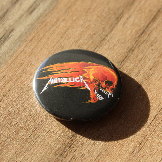 Metallica - Flaming Skull (Badge)