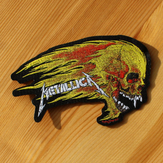 Metallica - Flaming Skull (Woven Patch)