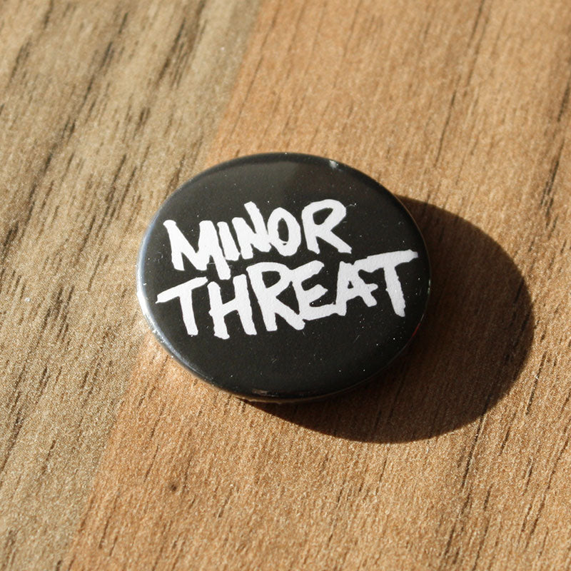 Minor Threat - White Logo (Badge)