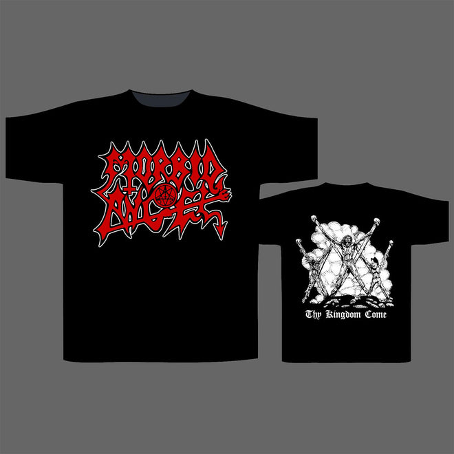 Morbid Angel - Red Logo / Thy Kingdom Come (T-Shirt)