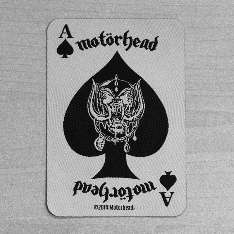 Motorhead - Ace of Spades Playing Card (Woven Patch)
