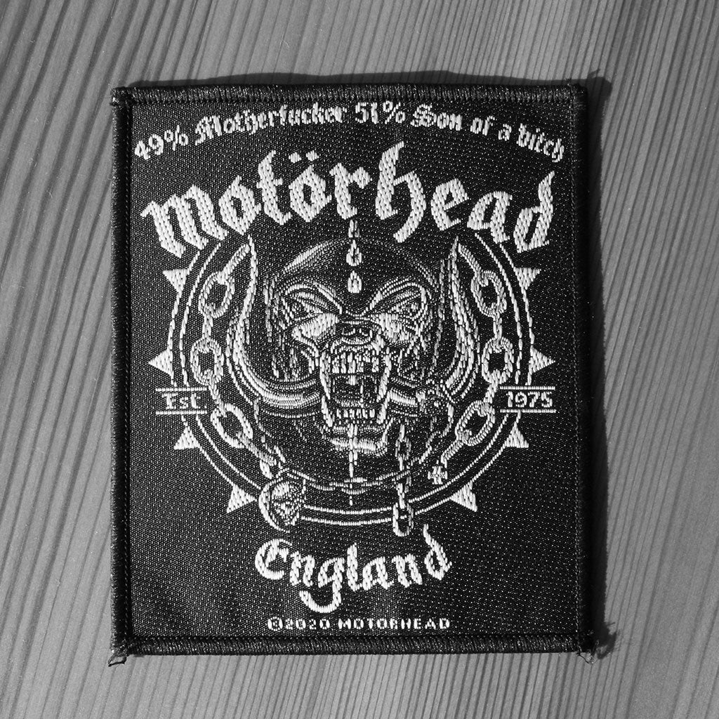 Motorhead - England / Ball & Chain (Woven Patch)