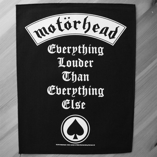 Motorhead - Everything Louder Than Everything Else (Backpatch)