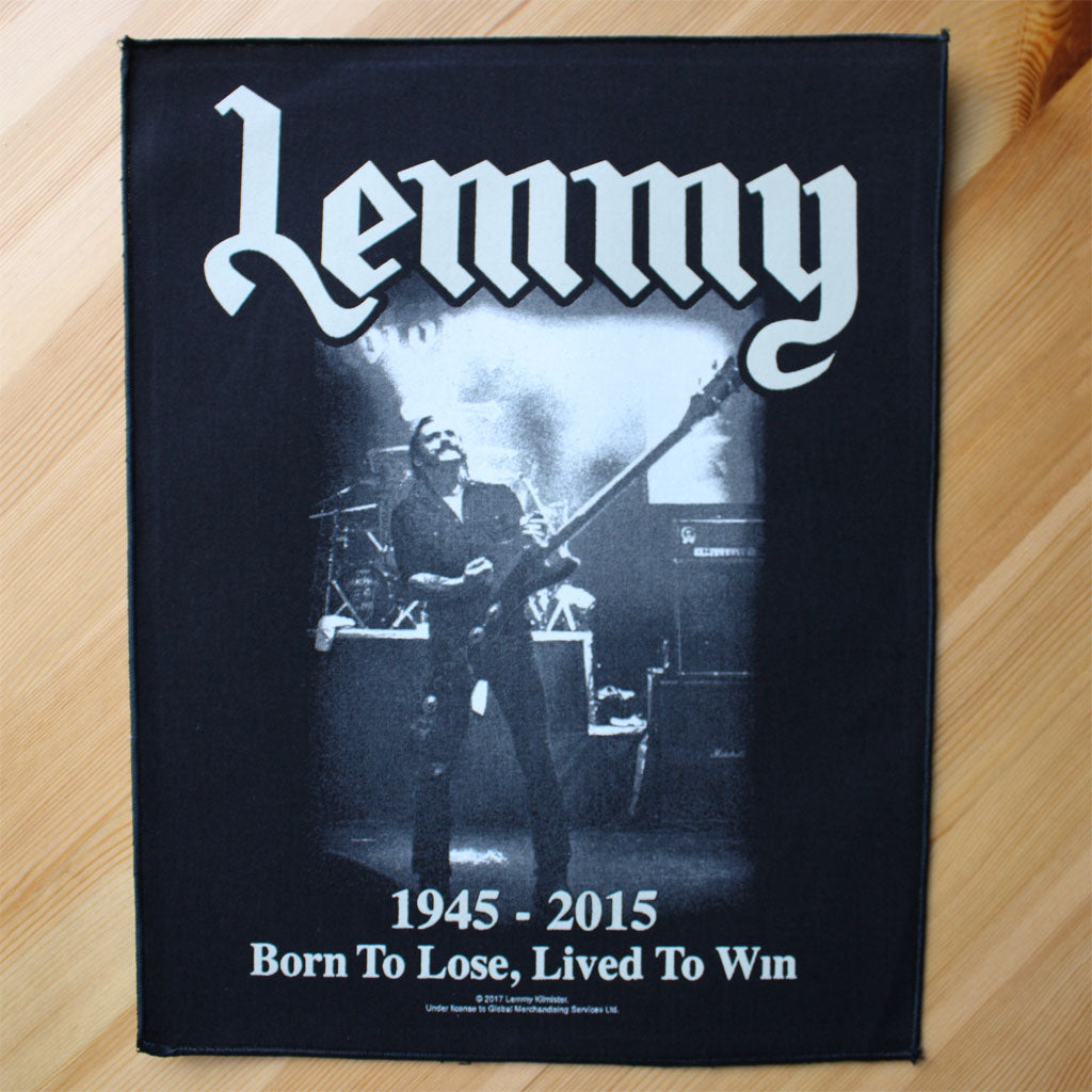 Motorhead - Lemmy: 1945-2015 Born to Lose, Lived to Win (Backpatch)