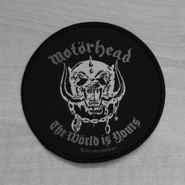 Motorhead The World is Yours Woven Patch