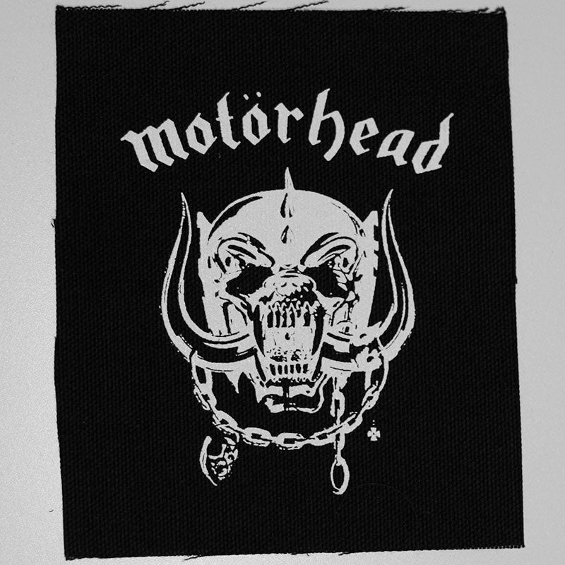 Motorhead - White Logo & Old Snaggletooth (Printed Patch)