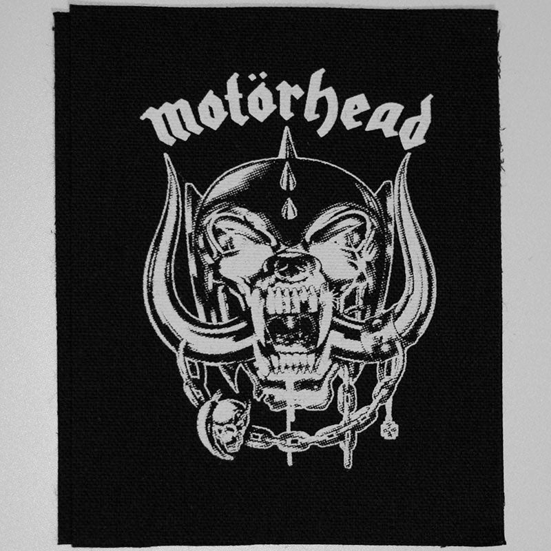 Motorhead - White Logo & Snaggletooth (Printed Patch)