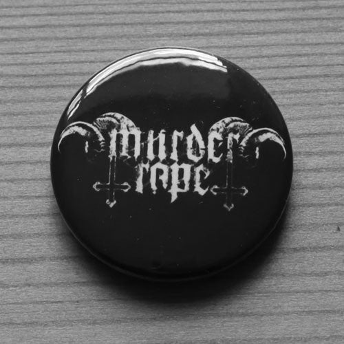 Murder Rape - White Logo (Badge)