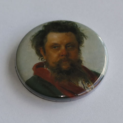 Mussorgsky - 1881 Portrait (Badge)