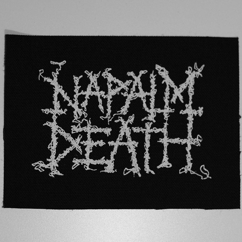 Napalm Death - White Logo (Leather) (Printed Patch)