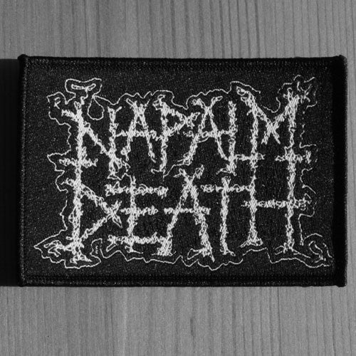 Napalm Death - White Logo (Woven Patch)