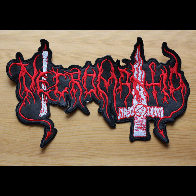 Necromantia - Red Logo (Cutout) (Backpatch)